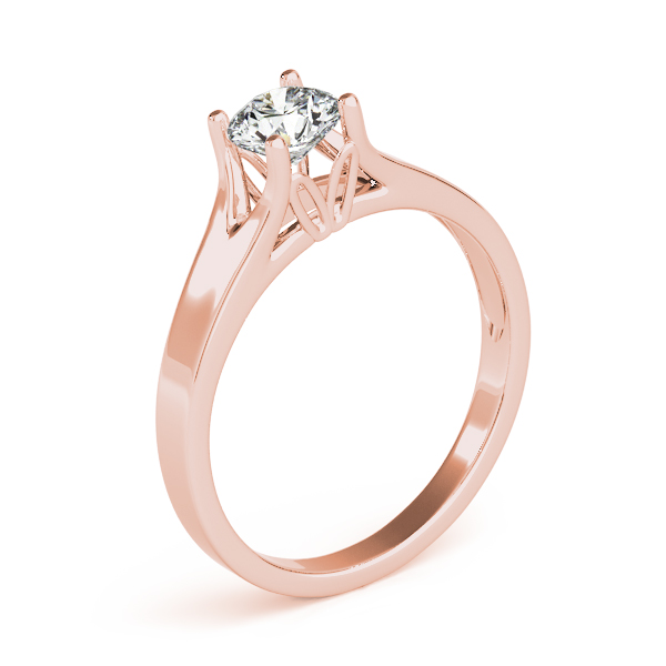 14K Rose Gold Round Solitaire Engagement Ring Image 3  ,