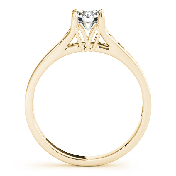 10K Yellow Gold Round Solitaire Engagement Ring Image 2  ,
