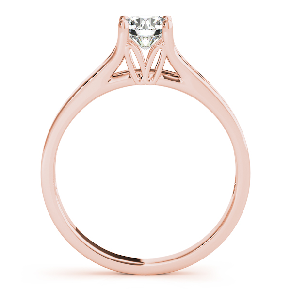 14K Rose Gold Round Solitaire Engagement Ring Image 2  ,