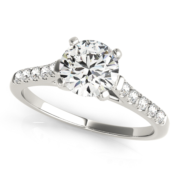 Platinum Single Row Prong Engagement Ring Atlanta West Jewelry Douglasville, GA