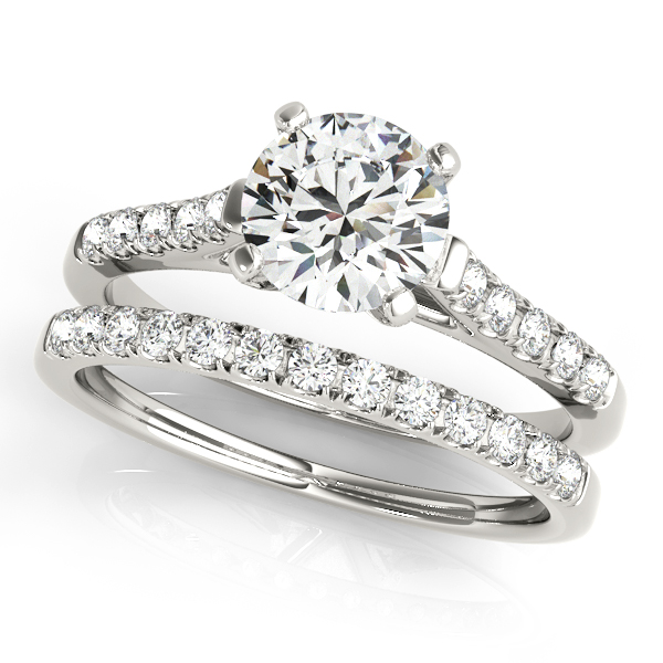 14K White Gold Single Row Prong Engagement Ring Image 3 Studio 2015 Woodstock, IL