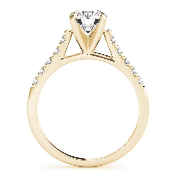 18K Yellow Gold Single Row Prong Engagement Ring Image 2  ,