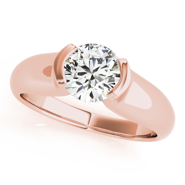 18K Rose Gold Round Solitaire Engagement Ring Douglas Diamonds Faribault, MN