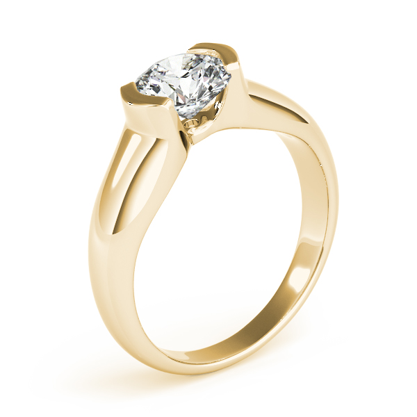 14K Yellow Gold Round Solitaire Engagement Ring Image 3 Atlanta West Jewelry Douglasville, GA