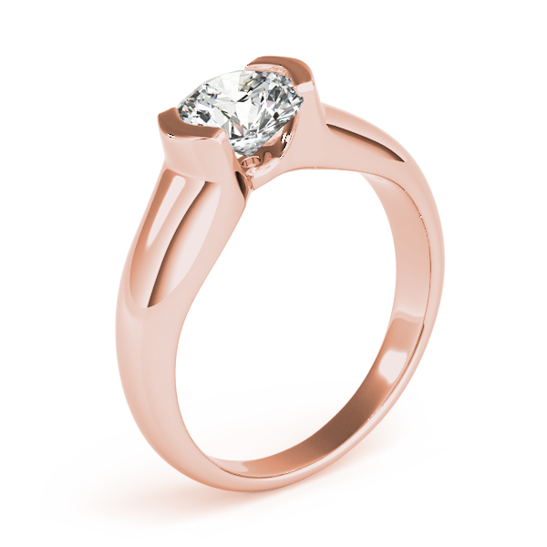 18K Rose Gold Round Solitaire Engagement Ring Image 3 Atlanta West Jewelry Douglasville, GA
