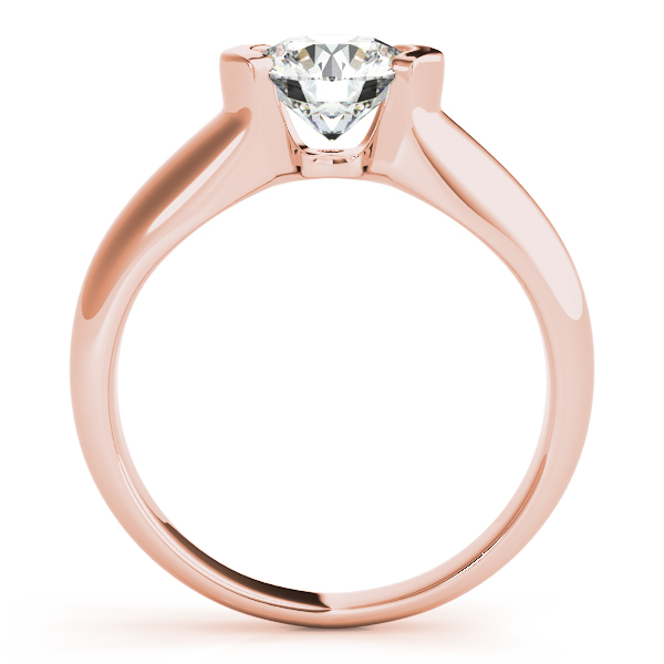 18K Rose Gold Round Solitaire Engagement Ring Image 2 Douglas Diamonds Faribault, MN