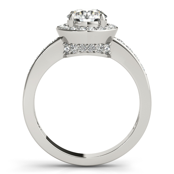 Platinum Round Halo Engagement Ring Image 2 Atlanta West Jewelry Douglasville, GA