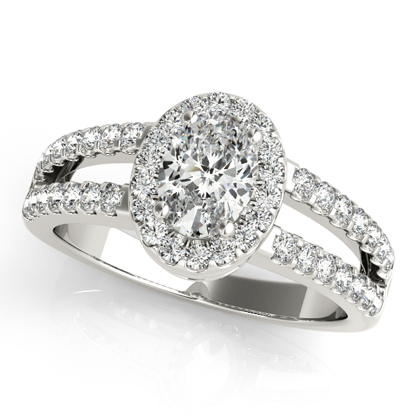 Platinum Oval Halo Engagement Ring Atlanta West Jewelry Douglasville, GA