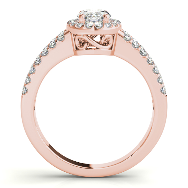 10K Rose Gold Oval Halo Engagement Ring Image 2 Douglas Diamonds Faribault, MN