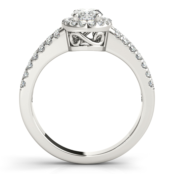 Platinum Oval Halo Engagement Ring Image 2 Atlanta West Jewelry Douglasville, GA