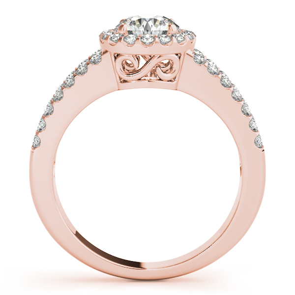 10K Rose Gold Round Halo Engagement Ring Image 2 Douglas Diamonds Faribault, MN
