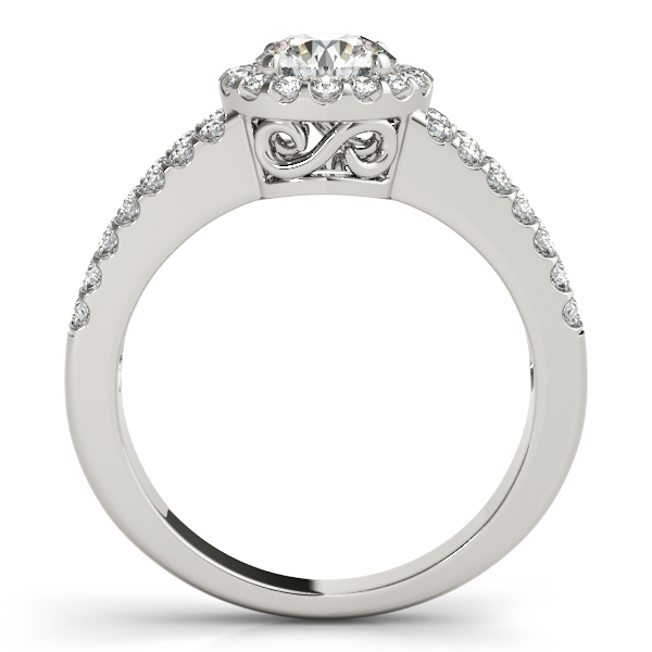 18K White Gold Round Halo Engagement Ring Image 2 Douglas Diamonds Faribault, MN
