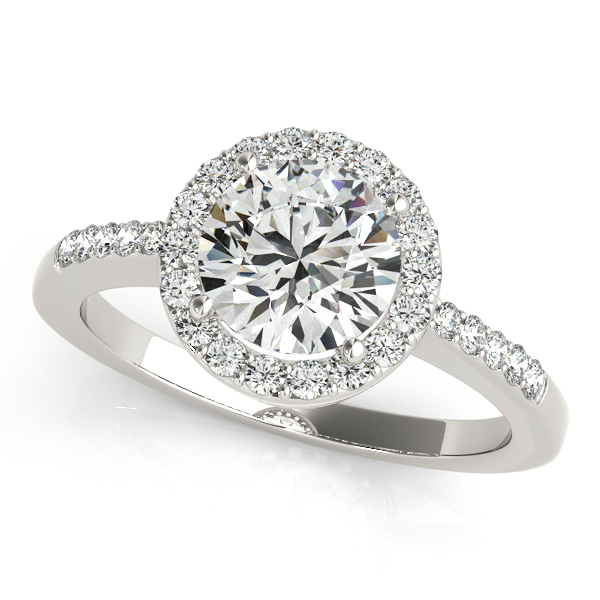 Platinum Round Halo Engagement Ring Elgin's Fine Jewelry Baton Rouge, LA