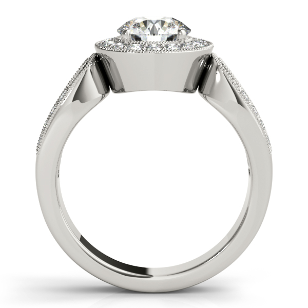 14K White Gold Round Halo Engagement Ring Image 2 Futer Bros Jewelers York, PA
