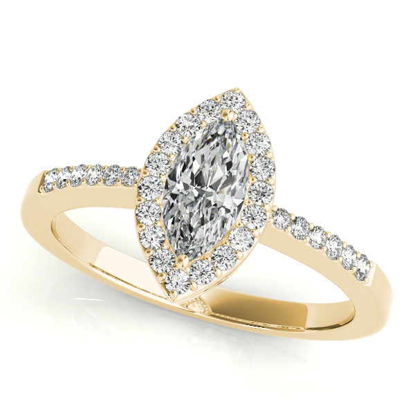 10K Yellow Gold Halo Engagement Ring Graham Jewelers Wayzata, MN
