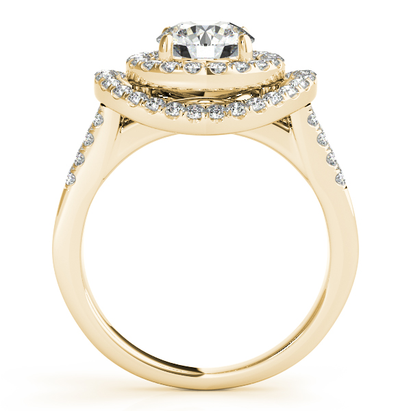 10K Yellow Gold Round Halo Engagement Ring Image 2 Studio 2015 Woodstock, IL