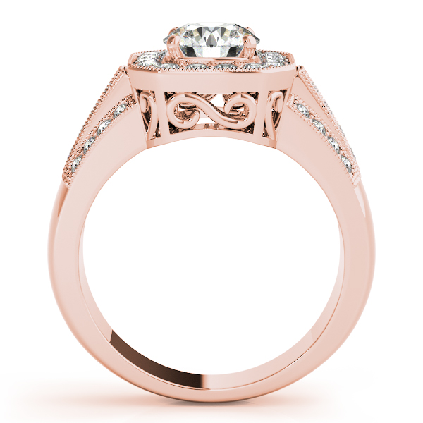 18K Rose Gold Round Halo Engagement Ring Image 2 Graham Jewelers Wayzata, MN