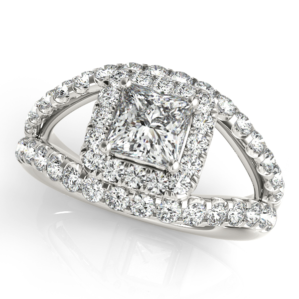 Platinum Halo Engagement Ring Bay Area Diamond Company Green Bay, WI