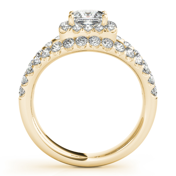 18K Yellow Gold Halo Engagement Ring Image 2 Trinity Jewelers  Pittsburgh, PA