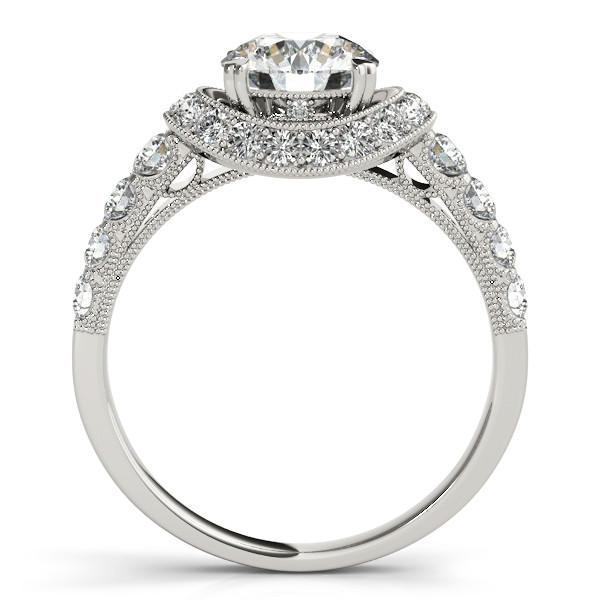 18K White Gold Round Halo Engagement Ring Image 2 Couch's Jewelers Anniston, AL
