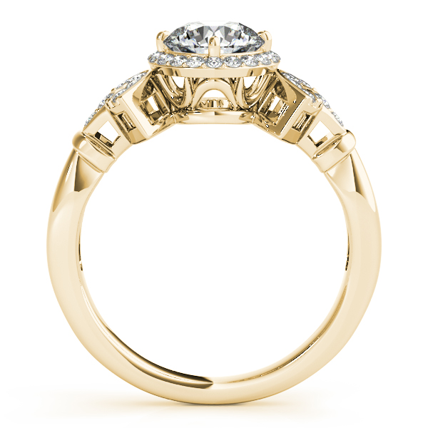 18K Yellow Gold Round Halo Engagement Ring Image 2 Bell Jewelers Murfreesboro, TN