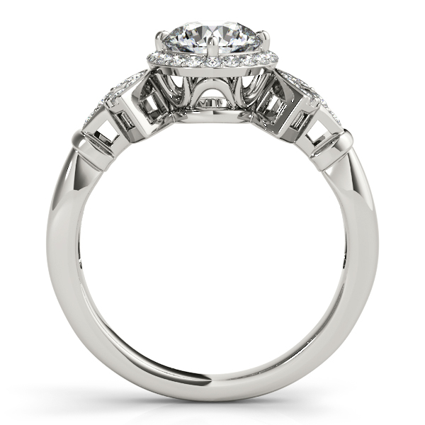18K White Gold Round Halo Engagement Ring Image 2 Enhancery Jewelers San Diego, CA