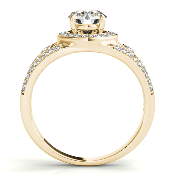 18K Yellow Gold Round Halo Engagement Ring Image 2 P.K. Bennett Jewelers Mundelein, IL