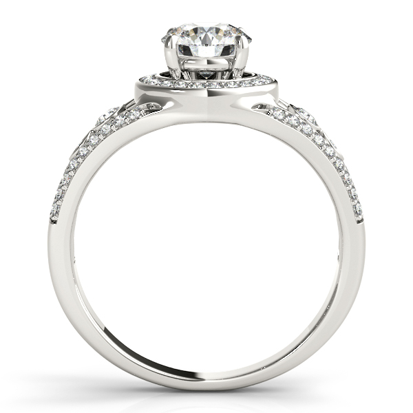 14K White Gold Round Halo Engagement Ring Image 2 Parris Jewelers Hattiesburg, MS