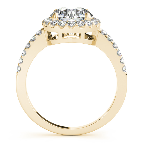 10K Yellow Gold Round Halo Engagement Ring Image 2 Bay Area Diamond Company Green Bay, WI