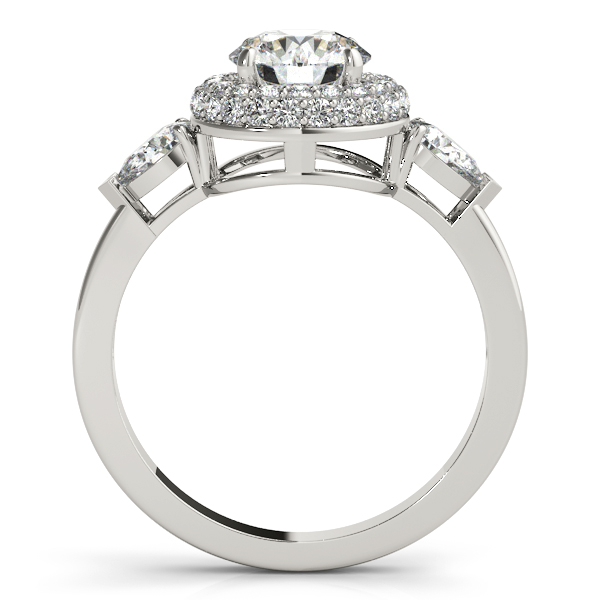 Platinum Round Halo Engagement Ring Image 2 Couch's Jewelers Anniston, AL