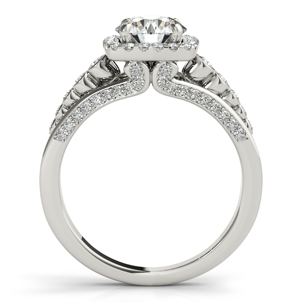 Platinum Round Halo Engagement Ring Image 2 Bay Area Diamond Company Green Bay, WI