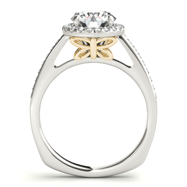 18K Yellow Gold Round Halo Engagement Ring Image 2 John Herold Jewelers Randolph, NJ