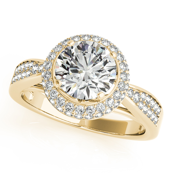 10K Yellow Gold Round Halo Engagement Ring Graham Jewelers Wayzata, MN