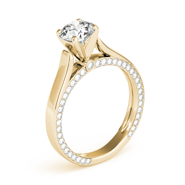18K Yellow Gold Engagement Ring Remount Image 3 Studio 2015 Woodstock, IL