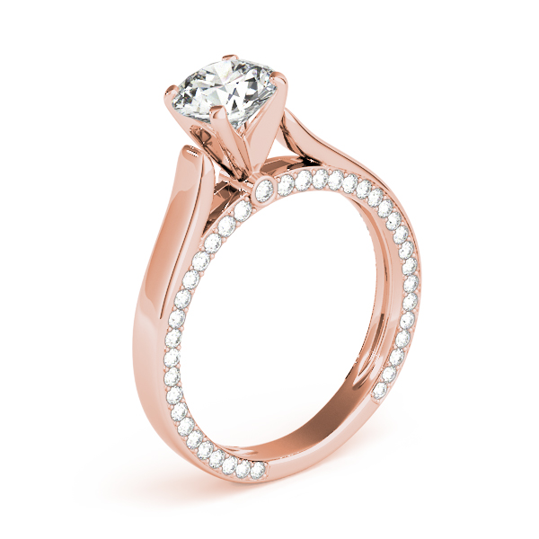 14K Rose Gold Engagement Ring Remount Image 3  ,