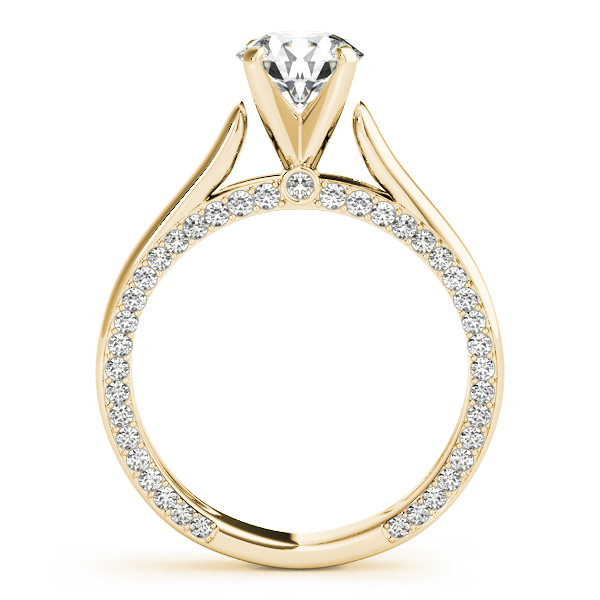 14K Yellow Gold Engagement Ring Remount Image 2  ,