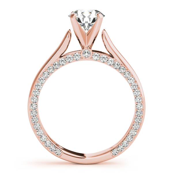14K Rose Gold Engagement Ring Remount Image 2  ,