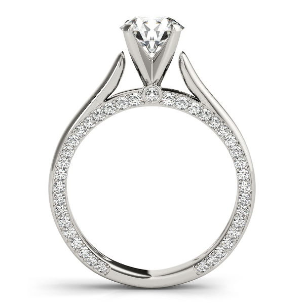 14K White Gold Engagement Ring Remount Image 2  ,