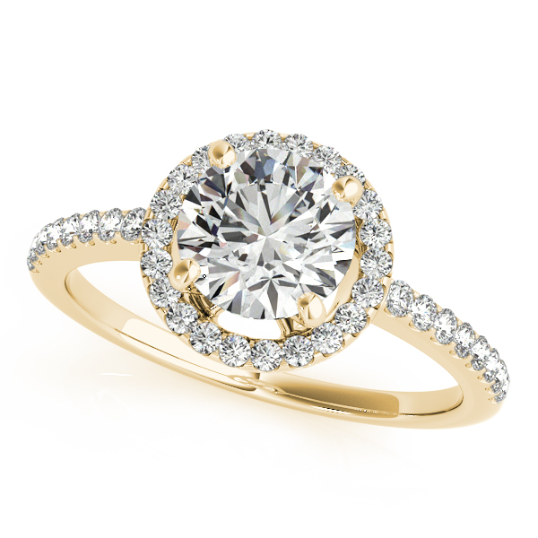 14K Yellow Gold Round Halo Engagement Ring Graham Jewelers Wayzata, MN