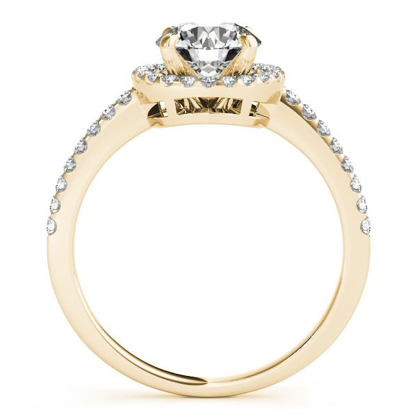 18K Yellow Gold Round Halo Engagement Ring Image 2 Comstock Jewelers Edmonds, WA