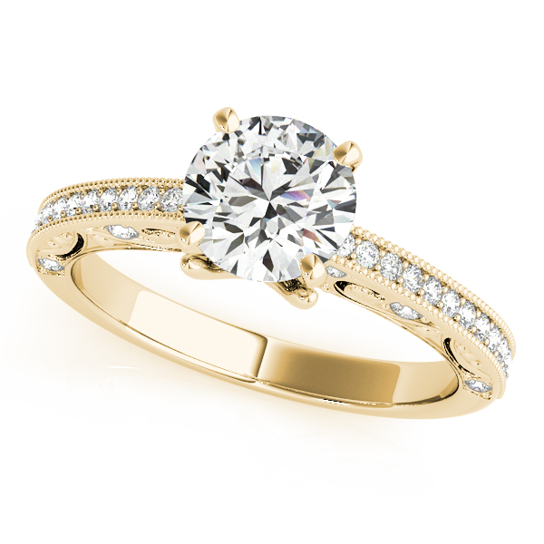 10K Yellow Gold Antique Engagement Ring Studio 2015 Woodstock, IL