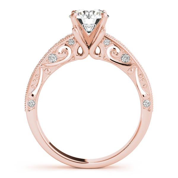 10K Rose Gold Antique Engagement Ring