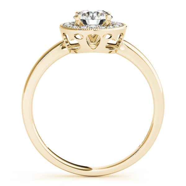18K Yellow Gold Round Halo Engagement Ring Image 2 Wood's Jewelers Mt. Pleasant, PA