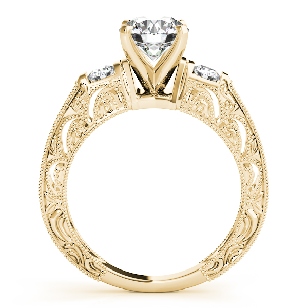 18K Yellow Gold Antique Engagement Ring Image 2 Erickson Jewelers Iron Mountain, MI
