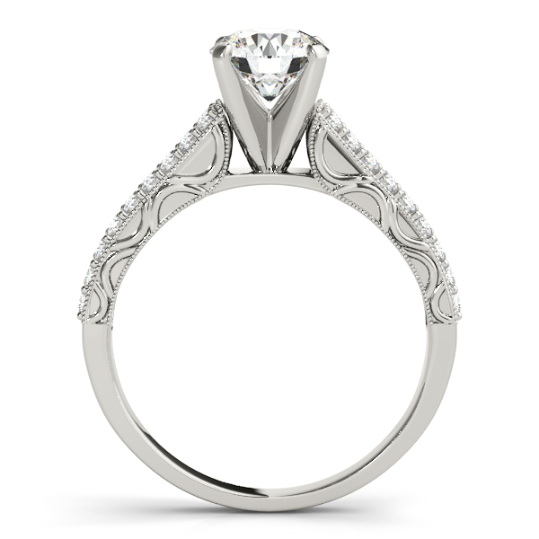Engagement Rings - Platinum Antique Engagement Ring - image #2