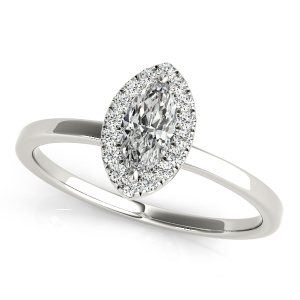 Platinum Halo Engagement Ring by Overnight