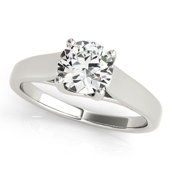 c8ea758df4c19 Platinum Round Solitaire Engagement Ring