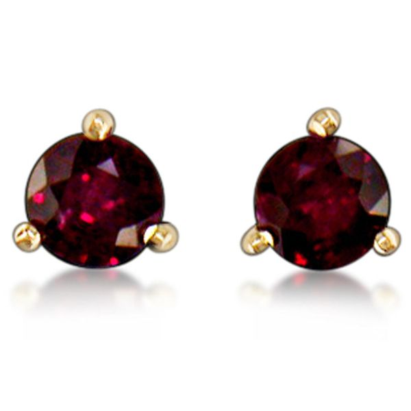 Yellow Gold Ruby Earrings The Jewelry Source El Segundo, CA