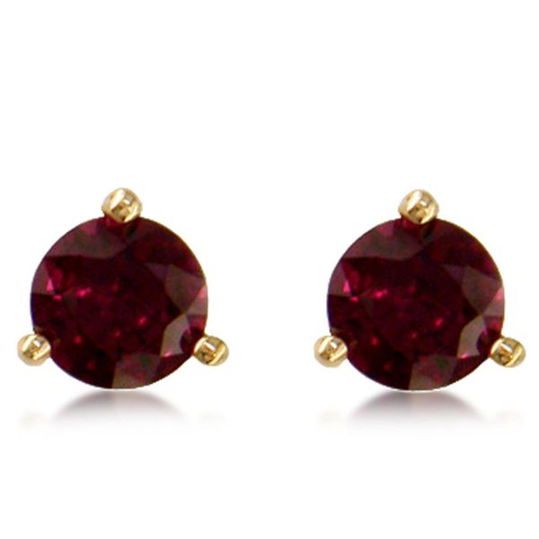 Lightweight Gold Ruby Earrings Arthur's Jewelry Bedford, VA