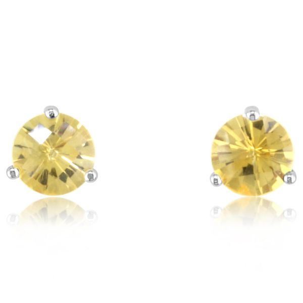 White Gold Citrine Earrings Towne & Country Jewelers Westborough, MA
